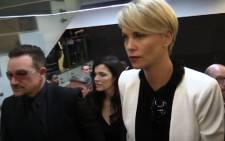 South African actress Charlize Theron and Irish rock star Bono have also arrived. Picture; EWN
