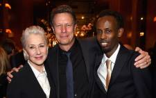 """Helen Mirren, director Gavin Hood and Barkhad Abdi attennd the """"Eye In The Sky"""" New York Premiere After Party at the Parkview Lounge on 9 March, 2016 in New York City. Picture: AFP."""