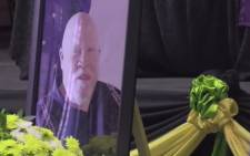 Reverend Oabetswe Johannes Tselapedi, former North West Education MEC, was laid to rest on Friday 11 June 2021. Picture: Screenshot