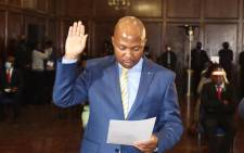Motlatsi Maqelepo is sworn in as Lesotho's health minister on 21 May 2020. Picture: Supplied.