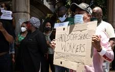 FILE: SABC employees picketed outside their offices on 19 November 2020. The employees of the embattled public broadcaster are protesting against retrenchments that could see hundreds lose their jobs. Picture: Xanderleigh Dookey Makhaza/EWN