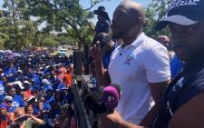 DA leader Mmusi Maimane addresses supporters outside the Union Buildings in Pretoria on 29 March 2019. Picture: Our_DA/Twitter