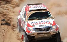 The Hilux Team competes in the Dakar Rally. Picture: Toyota Motorsport