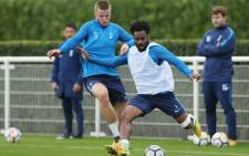 Danny Rose (in foreground) trains with the team at Hotspur Way on 11 October 2017. Picture: Twitter/@SpursOfficial