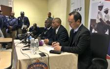 Johannesburg Mayor Herman Mashaba, MMC Michael Sun and JMPD Chief David Thembe at a media briefing on its Buya Mthetho operations. Picture: Katleho Sekhotho/EWN