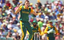 Morne Morkel celebrates after his five wicket haul in the second ODI against Australia at the WACA in Perth on 16 November 2014. Picture: Official Morne Morkel Facebook page.
