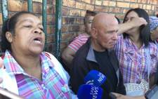 Mitchells Plain father Sedick Abrahams addressing media after a court appearance for the murder of his 21-year-old drug addict son accompanied by his wife Myrtle (L). Picture: Lauren Isaacs/EWN.