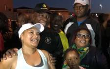 President Cyril Ramaphosa takes pictures with Khayelitsha and Mitchells Plain residents during a morning walk on the Cape Flats on 7 March 2018. Picture: @CyrilRamaphosa/Twitter.