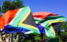 South African flags are waved at the anti-Zuma march in Cape Town. Picture: Imran Goga/EWN
