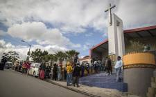 Voters queue in Imizamo Yethu. Picture: Aletta Harrison/EWN