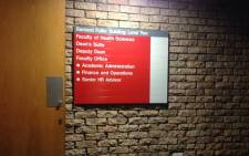 FILE: Dean's Suite at the University of Cape Town Health Sciences Faculty. Picture: Shamiela Fisher/EWN