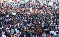 Egypt citizens outside Tahir Square. Picture: AFP
