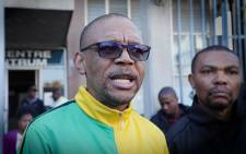 FILE: ANC national spokesperson Pule Mabe at the Johannesburg Central Police Station where he laid a criminal complaint of crimen injuria against Afrikaans singer Steve Hofmeyr on 24 June 2019. Picture: Xanderleigh Dookey/EWN