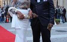 Stella Ndabeni-Abrahams and her husband Thato Abrahams.