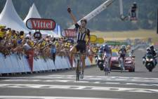 Team MTN-Qhubeka's Steven Cummings has won Stage 14 at the Tour De France, on 18 July 2015. Picture: Le Tour de France.