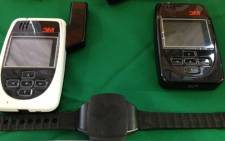 Correctional Services Minister Sibusiso Ndebele announced the rollout of an electronic monitoring system, which will see offenders tagged with a GPS tracking device. Picture: Barry Bateman/EWN.