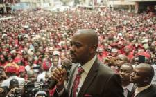 FILE: Zimbabwe opposition party Movement for Democratic Change (MDC) President Nelson Chamisa delivers a speech outside the party headquarters Harvest House in Harare on 18 February 2018. Picture: AFP.