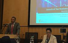SARS executive Randall Carolissen addresses the media during the release of the annual Tax Statistics Bulletin. Picture: @SAgovnews/Twitter