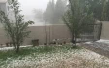 FILE: Hailstorm. Picture: EWN.