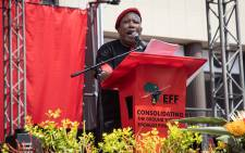 EFF leader Julius Malema addressed the crowd at the party's manifesto launch on 26 September 2021. Picture: Xanderleigh Dookey Makhaza/Eyewitness News
