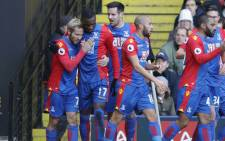 Crystal Palace players celebrate after a goal during a match against Watford on 26 December 2016. Picture: @CPFC.