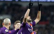 Manchester City's Riyad Mahrez scored an early goal as City edged Tottenham Hotspur 1-0 at a subdued Wembley Stadium on 29 October 2018. Picture: Facebook.
