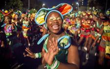 Brightly coloured singers and dancers took to the streets to celebrate the elements at the 2015 Cape Town Carnival. Picture: Thomas Holder/EWN