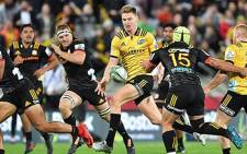 The Hurricanes and the Chiefs in action during their Super Rugby match on 13 April 2018. Picture: @Hurricanesrugby/Twitter