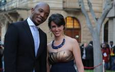 DA Parliamentary Leader Mmusi Maimane and his wife Natalie, who was wearing locally-made only garments.