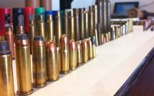 Bullets at the Cape Town police service forensic science laboratory. Picture: Graeme Raubenheimer/EWN