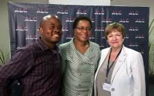 African Leadership Academy CEO Fred Swaniker, inaugural chancellor Graca Machel and Glasgow Caledonian University's Vice Chancellor Pamela Gillies. Picture: Gia Nicolaides/EWN.