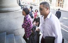 Zephany Nurse's biological father, Morne, arrives at the Western Cape High Court on 25 February 2016. Picture: Aletta Harrison/EWN