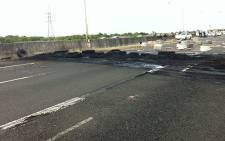 FILE: Protesters burnt tyres on the N2 Highway. Picture: Shamiela Fisher/EWN.