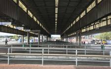 Mitchells Plain Taxi Rank stands deserted during a taxi strike in Cape Town. Picture: Cindy Archillies/EWN