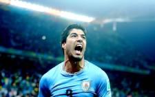 Uruguayan striker Luis Suarez. Picture: EPA/Diego Azubel.