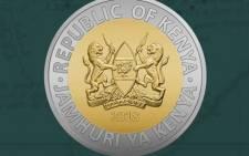 Kenya's new 20-shilling coin. Picture: @CBKKenya/Twitter