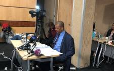 Advocate Dali Mpofu reads To Moyane's testimony during the Nugent inquiry, on 29 June 2018. Picture: Qaanitah Hunter/EWN