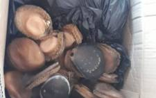 Some of the abalone confiscated by police near the Huguenot tunnel near Paarl on 23 June 2020. Picture: @SAPoliceService/Twitter