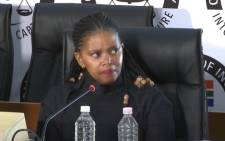 A screengrab of Trillian Capital and Regiments Capital employee, Mosilo Mothepu, testifying at the state capture commission on 10 December 2020. Picture: SABC Digital News/YouTube