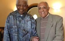 FILE: Nelson Mandela with anti-apartheid activist Ahmed Kathrada. Picture: Sapa.