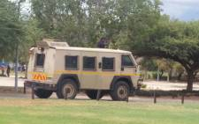 FILE. Police nyala seen on campus at the North West University in Mahikeng. Picture: Twitter: @Thats_Brooklyn.