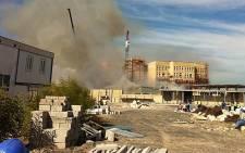 Hospital on fire