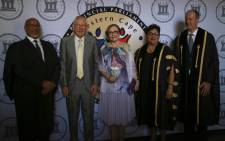 Western Cape Premier Zille poses with other dignitaries head of delivering her final State of the Province Address on 15 February 2019. Picture: Cindy Archillies/EWN