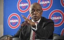 Fifa presidential candidate Tokyo Sexwale at a media briefing in Sandton on 19 December 2015. Picture: Reinart Toerien/EWN.