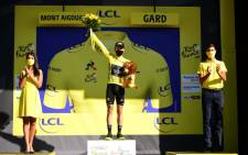 Briton Adam Yates held on to the overall leader's yellow jersey. Picture: @LeTour/Twitter