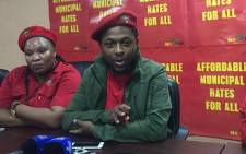 Economic Freedom Fighters spokesperson, Mbuyiseni Ndlozi. Picture: Clement Manyathela/EWN