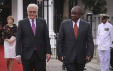 German Federal President Frank-Walter Steinmeier and President Cyril Ramaphosa at Tuynhuys in Cape Town on 20 November 2018. Picture: Cindy Archillies/EWN