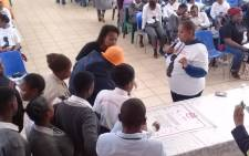 Girls and women sign a pledge for their future babies, pledging not to consume alcohol and harmful substances during their pregnancy. Picture: @The_DSD/Twitter.