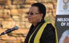 Nelson Mandela's widow, Graca Machel speaking at the special remembrance of the struggle icon at the Union Buildings in Pretoria on 5 December 2013. Picture: Christa Eybers/EWN.
