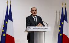 French Prime Minister Jean Castex gestures during a press conference on the COVID-19 virus fighting restrictions, in Paris, on 10 December 2020. Picture: AFP